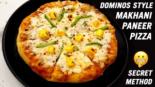 Dominos Style Paneer Makhani Pizza Recipe - Secret Method - CookingShooking