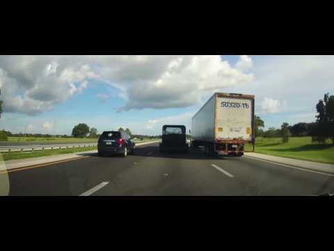 Driving on Interstate 75 from Ocala, Florida to Tampa
