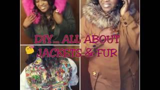 DIY PARKA WITH FUR HOOD!  2 JACKETS 1 VIDEO