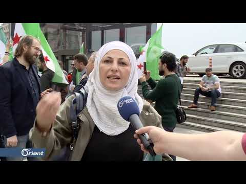 عشرات السوريون يتظاهرون أمام القنصلية الروسية في اسطنبول - سوريا  - 21:53-2019 / 5 / 15