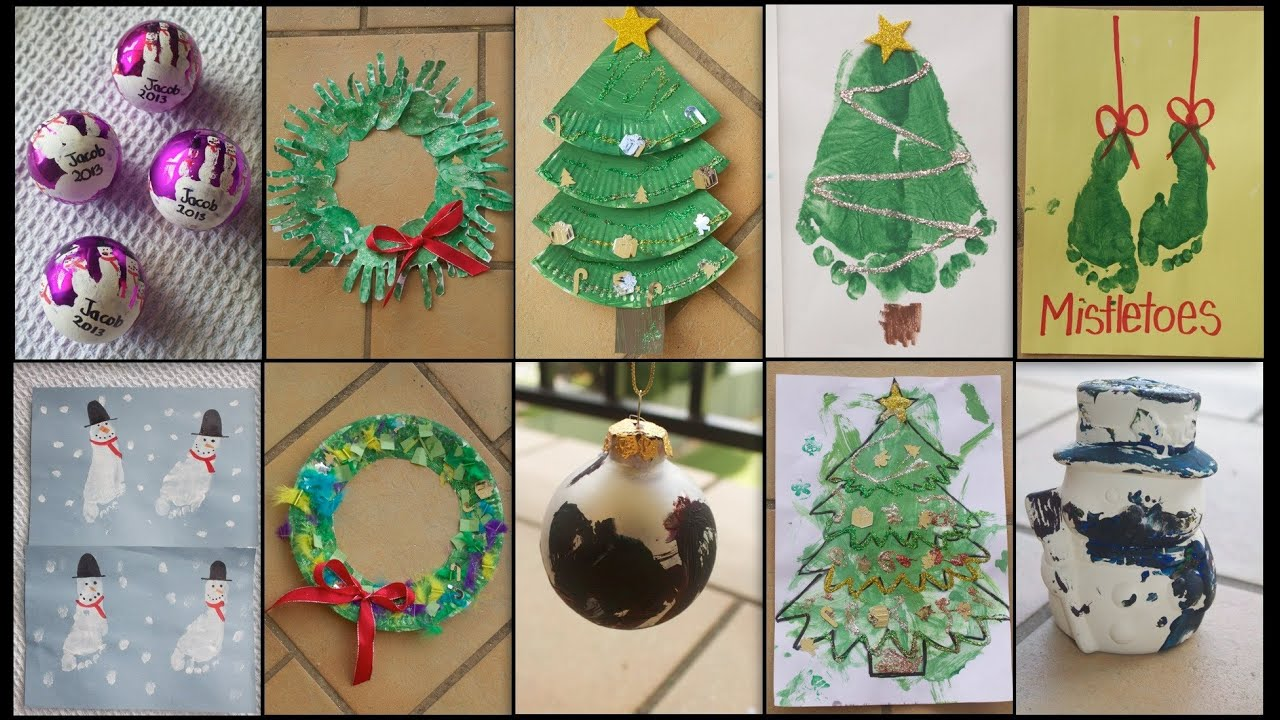 10 christmas crafts for toddlers kids youtube - 2 Year Old Christmas Ideas