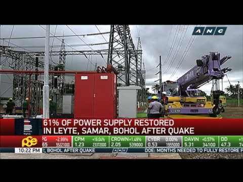 Still no electricity in some quake-hit areas in Visayas