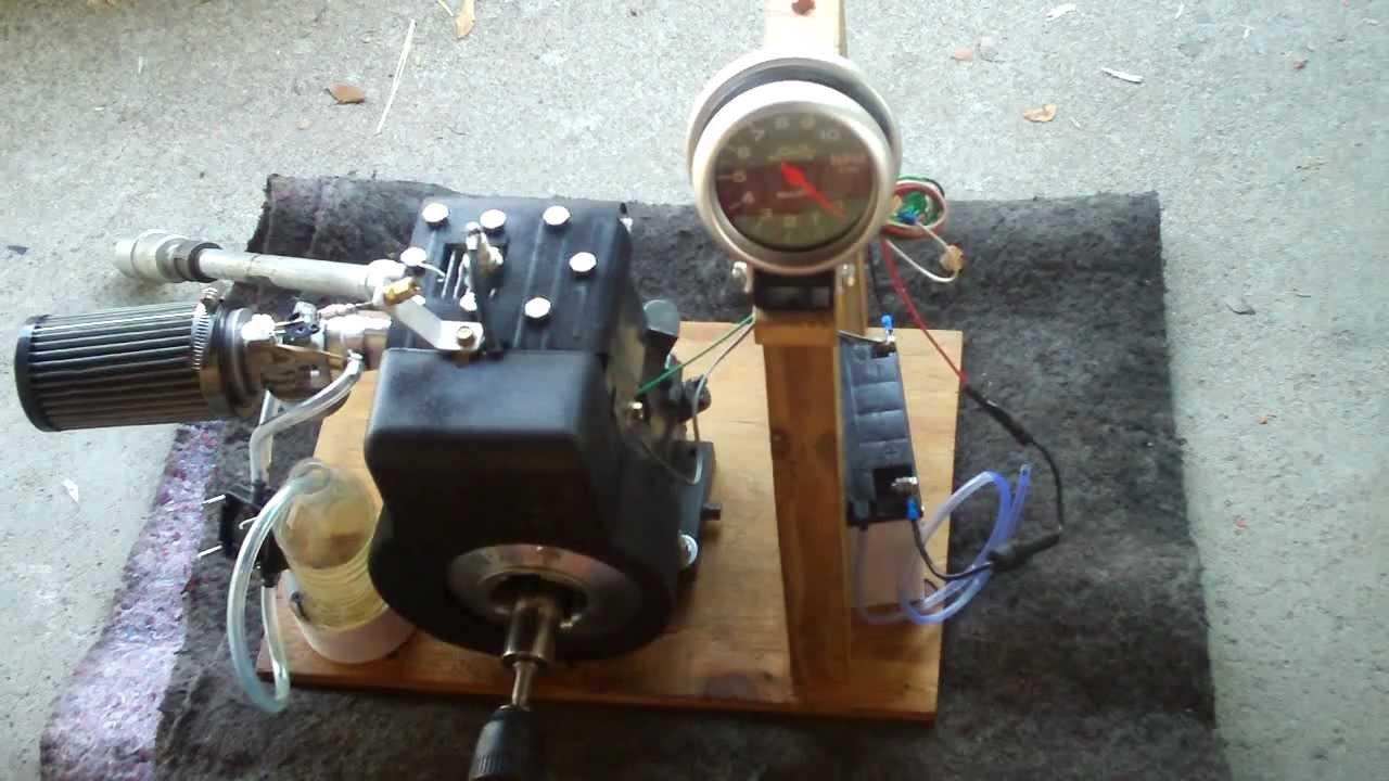 new tachometer testing on briggs 3hp i c cold start e85 fuel [ 1280 x 720 Pixel ]