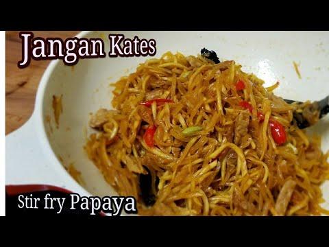 Njangan Kates Pepaya Masakan Ndeso Stir Fry Papaya Youtube