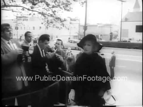 Actor Gary Cooper's Funeral 1961 public domain reel and archival footage