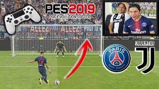 Duelo ÉPICO!!! Penaltis PES 2019 con CASTIGO 😱 PSG vs JUVENTUS
