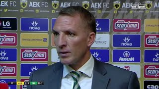 Celtic crash out of the Champions League - Brendan Rodgers reacts | AEK Athens 2-1 Celtic (3-2agg)