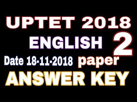 paper 2 english answer key 2018 | English answer key