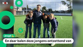 Voetbal voor kinderen met een beperking ligt helemaal stil