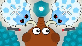 Mope.io I KILLED 2 ICE MONSTERS AS TROLLING ANIMALS! Epic Ice Monster Gameplay *New* Update (Mopeio)