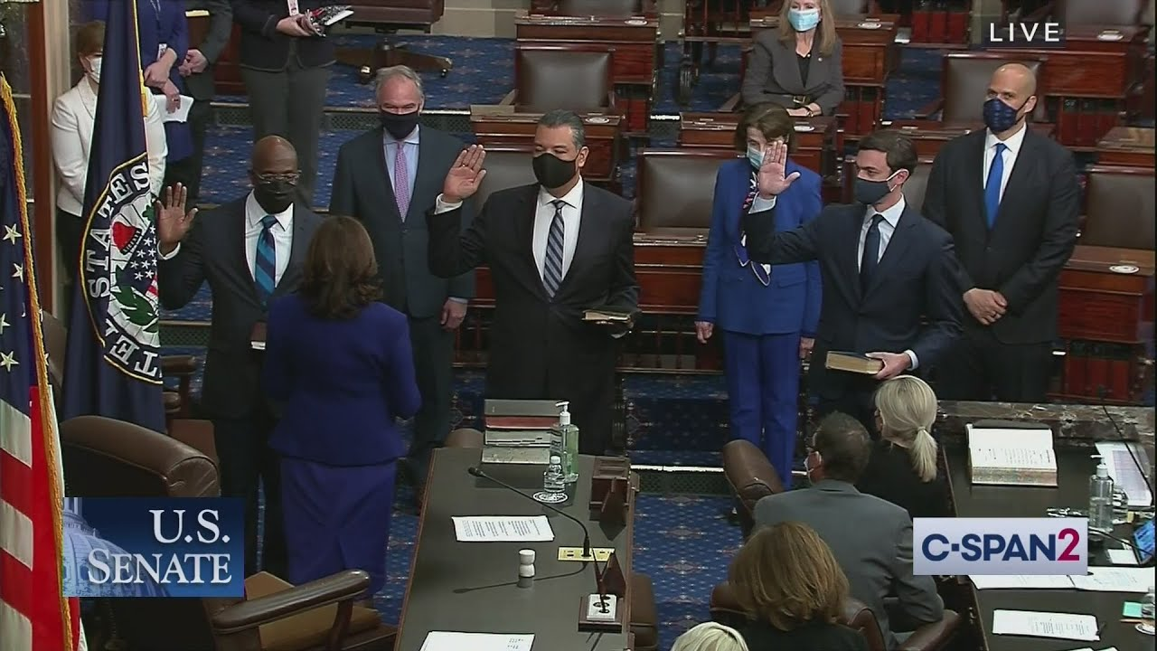 Vice President Harris swears in Senators Ossoff, Warnock and Padilla