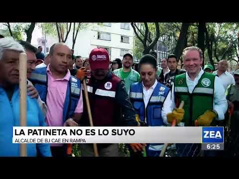 Alcalde de Benito Juárez cae de una rampa   Noticias con Francisco Zea