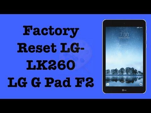 Factory Reset LG-LK460 | Hard Reset LG G Pad F2 Tablet | NexTutorial