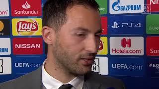DAZN: Domenico Tedesco im Gespräch mit DAZN nach Galatasaray vs Schalke