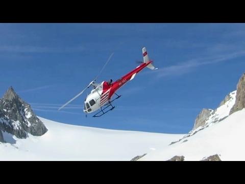 Ravitaillement cabane CAS d'Orny par hélicoptère (Club Alpin Suisse)