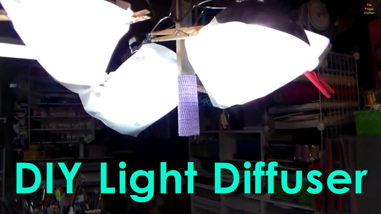 DIY Light Diffuser (Glare free video & photography light)