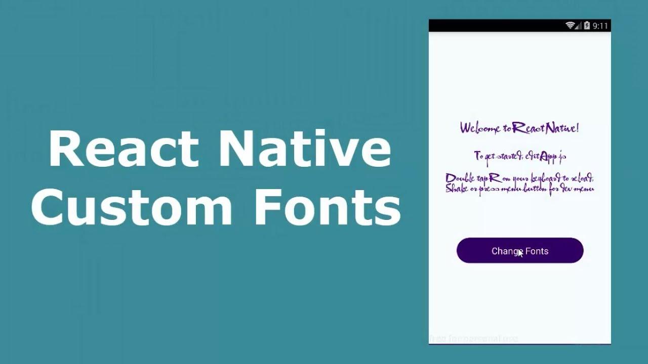React Native Custom Fonts