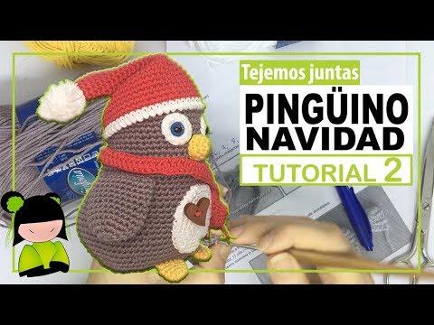 AMIGURUMI DE NAVIDAD 🎄 PINGÜINO PAPA NOEL navideño 🐧 Tutorial 2