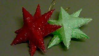 ESTRELA PARA O NATAL feita com cola quente – 3D star for Christmas with hot glue