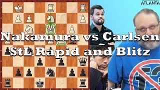 Current Events: Nakamura vs Carlsen StL Rapid and Blitz (2020)