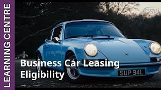 Business Car Leasing Eligibility | OSV Learning Centre