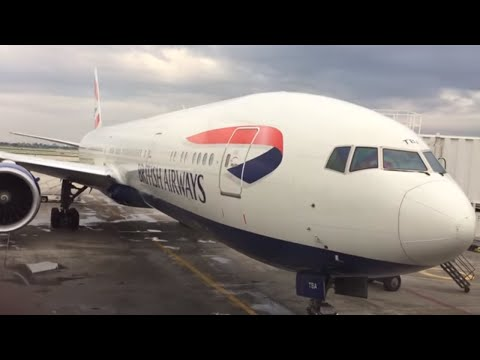 British Airways USA to LONDON Heathrow Airport TO INDIA HYDERABAD