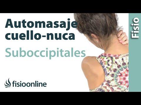 Automasaje para el cuello, nuca y musculatura suboccipital