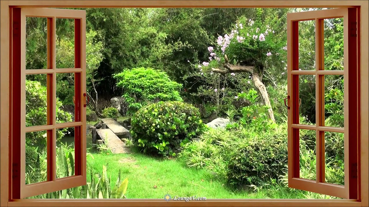 Antenne paysages fen tre jardin japonais youtube for Fenetre wallpaper