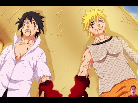 Naruto 698 Manga Chapter Review- Naruto VS Sasuke Fight Ending! 699 & 700 Next Week! ナルト 698