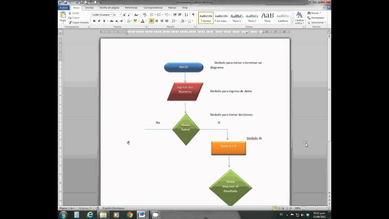 Diagrama de Flujo en Word - YouTube