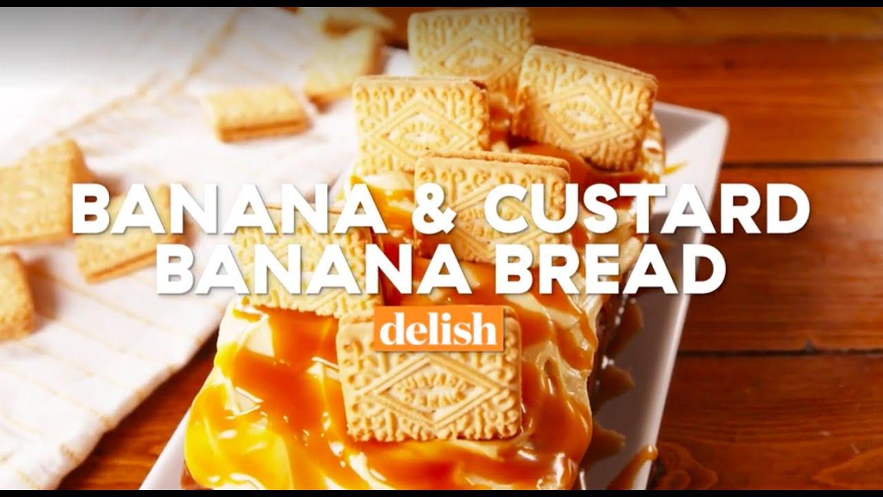 Banana Bread With Custard Delish Uk Youtube