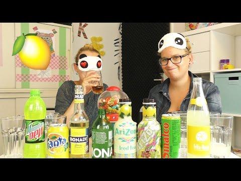 SODA CHALLENGELemonmit ekligen Bohnen | Eva VS Kathi – Wer erkennt die ZitronenLimo am Geschmack?