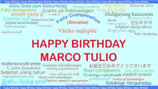 Marco Tulio   Languages Idiomas - Happy Birthday
