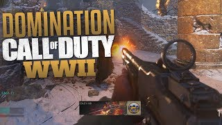 Call of Duty: WW2 Domination Gameplay (CoD WWII Multiplayer Gameplay)