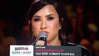 Demi Lovato's Hand In Hand Hurricane Relief Performance FULL 9/12/17