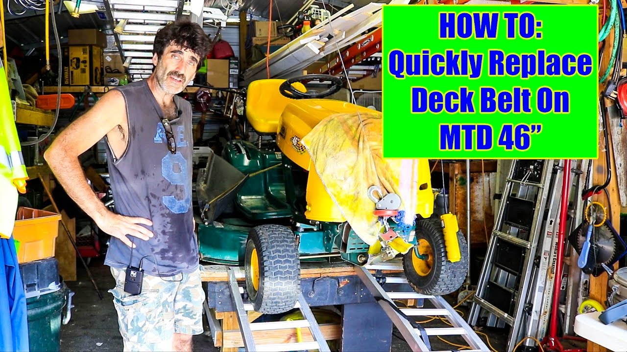 yard man 46 mtd tractor deck belt replacement quick mib version  [ 1280 x 720 Pixel ]