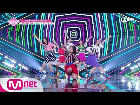 [ENG sub] PRODUCE48 [4회] ′텐션 UP!′ 파워레인보우ㅣAKB48 ♬하이텐션_1조 @그룹 배틀 180706 EP.4