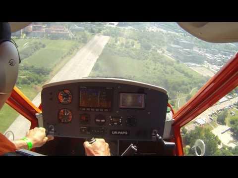 A32 cockpit view of demo flight at Picnik Malopolski Krakow 2017