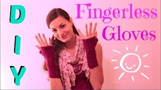How To Make Fingerless Gloves from an Old Sweater - EASY DIY Upcycling tutorial
