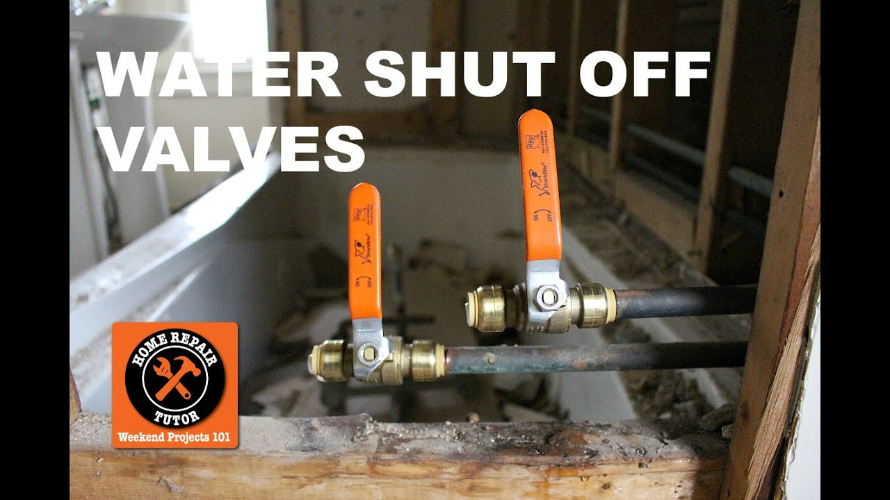 How to Install a Water Shut Off Valve in a Bathroom (Step-by-Step ...