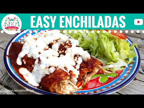 Easy CHICKEN ENCHILADAS recipe NO OVEN | Mexican Food