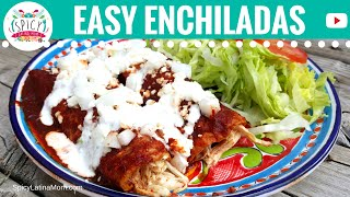 Easy CHICKEN ENCHILADAS recipe NO OVEN | Mexican Food - Spicy Latina Mom