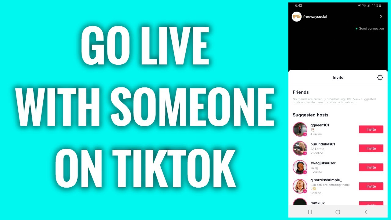 How To Go Live With Someone On Tiktok Youtube