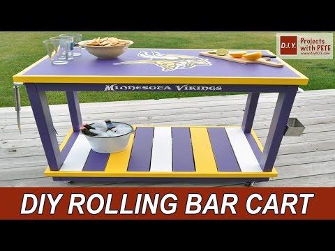 Minnesota Vikings Bar Cart with Glidden Team Colors