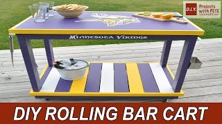Minnesota Vikings Bar Cart With Glidden Team Colors