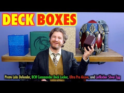 Review of Pirate Labs Defender, BCW Deck Locker, Alcove, and Sliver Egg box for Magic: The Gathering