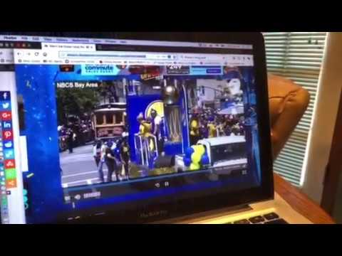 At Warriors Parade David Lee Goes Into Downtown Oakland Crowd