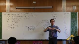 Tricky Log Questions (3 of 4: Combining terms & solving an equation)