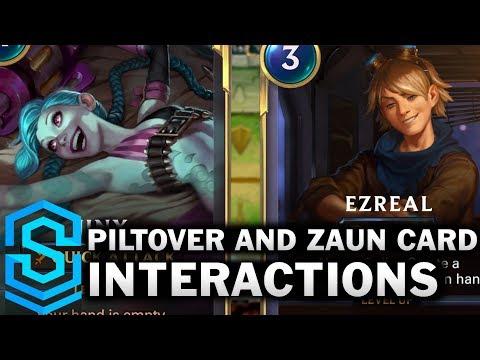 Piltover and Zaun Card Special Interactions - Jinx, Ezreal, Heimerdinger, Teemo etc