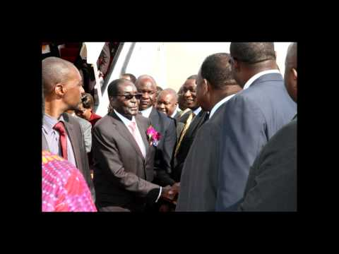 President Mugabe arrives